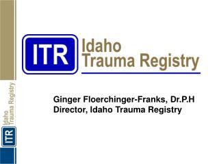 Ginger Floerchinger-Franks, Dr.P.H Director, Idaho Trauma Registry