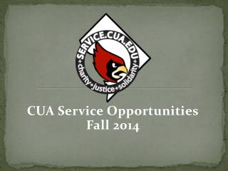 CUA Service Opportunities Fall 2014