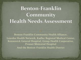 Benton-Franklin  Community Health Needs Assessment
