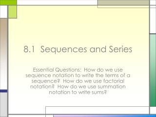 8.1  Sequences and Series