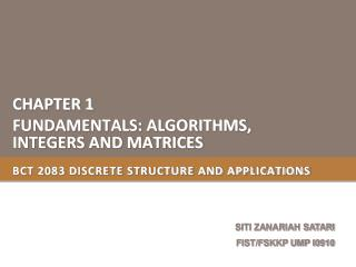BCT 2083 DISCRETE STRUCTURE AND APPLICATIONS