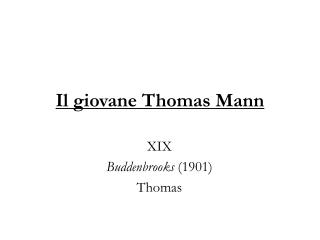 Il giovane Thomas Mann