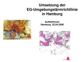 Umsetzung der  EG-Umgebungsl rmrichtlinie in Hamburg  Auftaktforum Hamburg  25.04.2008
