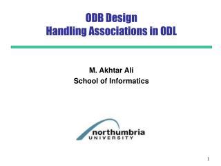 ODB Design  Handling Associations in ODL