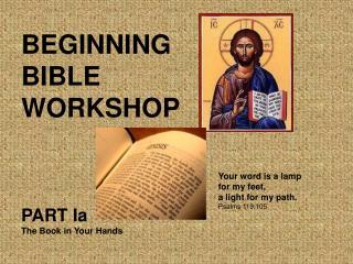 BEGINNING BIBLE WORKSHOP
