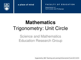Mathematics Trigonometry: Unit Circle