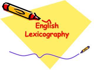 English Lexicography