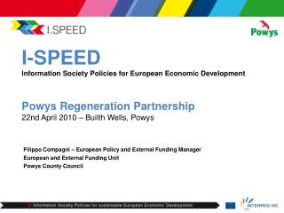 Filippo Compagni – European Policy and External Funding Manager European and External Funding Unit