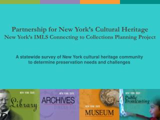 Partnership for New York's Cultural Heritage