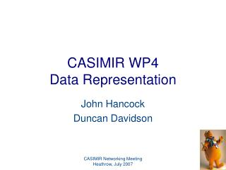 CASIMIR WP4 Data Representation