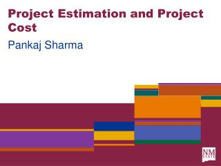 Project Estimation and Project Cost