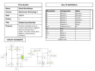 bistable transistor oscillator