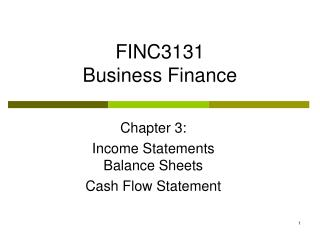 FINC3131 Business Finance