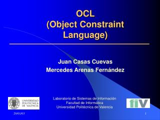 OCL  (Object Constraint Language)