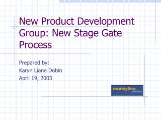 New Product Development Group: New Stage Gate Process