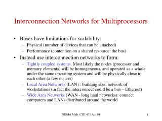 Interconnection Networks for Multiprocessors