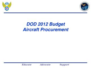 DOD 2012 Budget  Aircraft Procurement