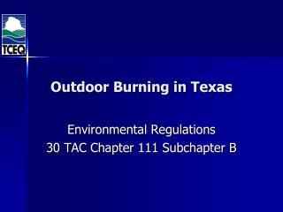 Outdoor Burning in Texas