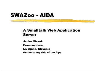 SWAZoo - AIDA