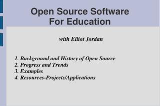 Open Source Software  For Education