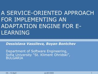 A SERVICE-ORIENTED APPROACH FOR IMPLEMENTING AN ADAPTATION ENGINE FOR E-LEARNING