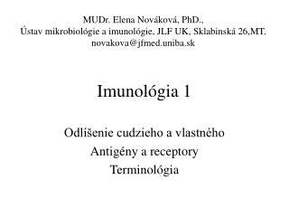 Imunológia 1