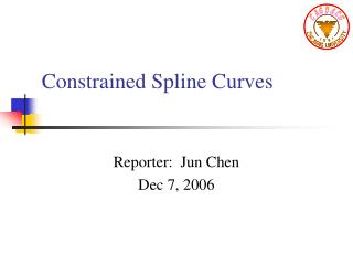 Constrained Spline Curves