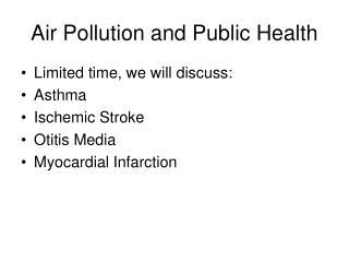 Air Pollution and Public Health