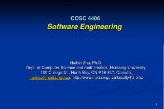 COSC 4406 Software Engineering