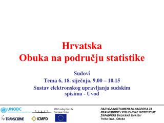 Hrvatska Obuka na podru?ju statistike