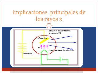 implicaciones  principales de los rayos x