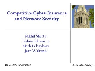 Competitive Cyber-Insurance and Network Security