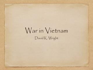 War in Vietnam