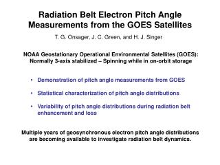 Radiation Belt Electron Pitch Angle Measurements from the GOES Satellites