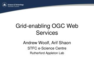 Grid-enabling OGC Web Services