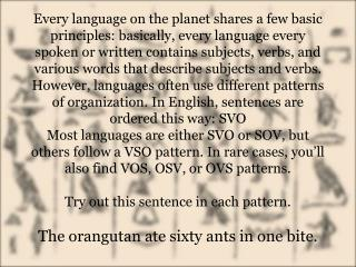 3 uses of verbs