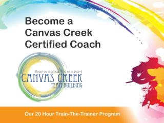 Our 20 Hour Train the Trainer Program
