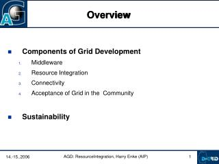 Components of Grid Development Middleware Resource Integration Connectivity