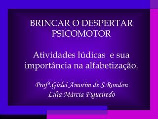 BRINCAR O DESPERTAR PSICOMOTOR Atividades lúdicas  e sua importância na alfabetização .