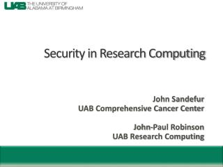 Security in Research Computing