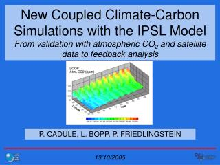 P. CADULE, L. BOPP, P. FRIEDLINGSTEIN
