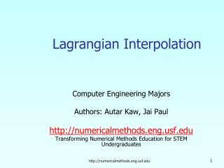Lagrangian Interpolation