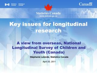 A view from overseas, National Longitudinal Survey of Children and Youth (Canada)