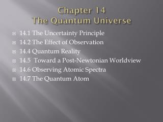 Chapter 14 The Quantum Universe