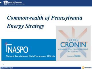 Commonwealth of Pennsylvania Energy Strategy