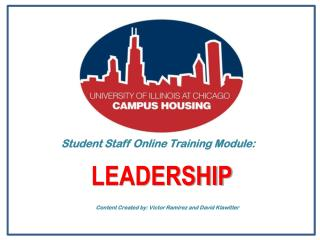 Student Staff Online Training Module: