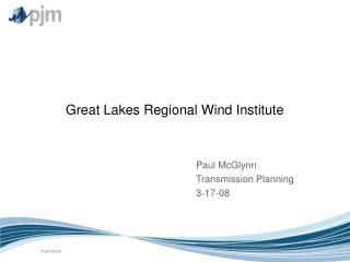 Great Lakes Regional Wind Institute