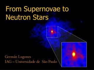 From Supernovae to Neutron Stars