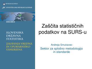 Zaščita statističnih podatkov na SURS-u