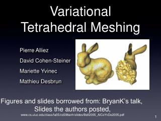 Variational Tetrahedral Meshing